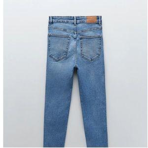 Zara Vintage High-rise Skinny Jeans size 2 blue